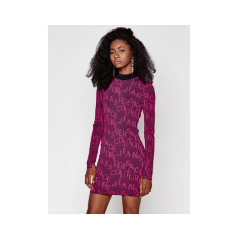 Versace Jeans Couture Úpletové šaty B4HZB810 Ružová Slim Fit