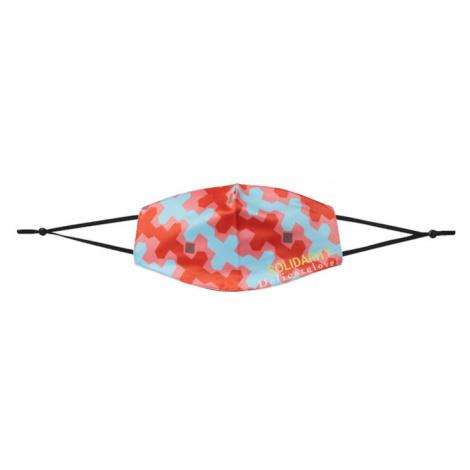 DELICATELOVE Látkové rúško 'SOLIDARITY'  koralová / modrá