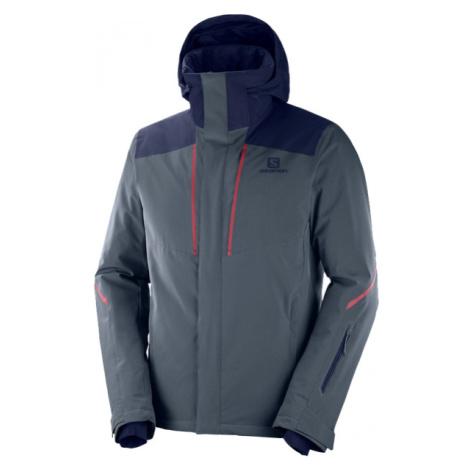 Salomon STORMSEASON JKT M sivá - Pánska lyžiarska bunda