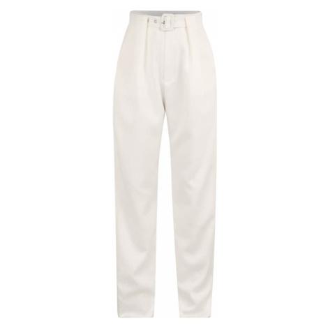 Missguided (Petite) Plisované nohavice  biela