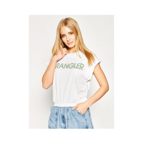 Wrangler Tričko Summer W7N5GHXW1 Biela Regular Fit