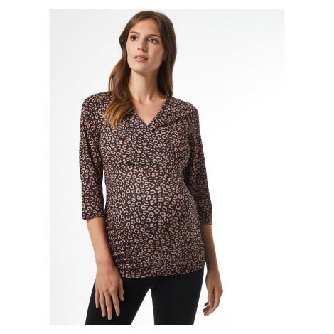 Hnedé vzorované tehotenské tričko Dorothy Perkins Maternity