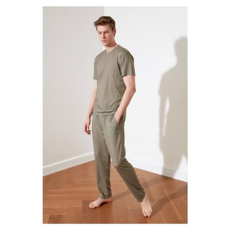 Trendyol Khaki Knitted Pajamas Set