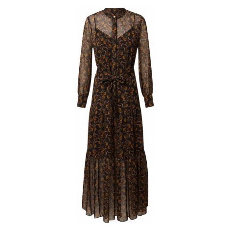 Ted Baker Košeľové šaty 'Lettii'  čierna / žltá / hrdzavohnedá / béžová