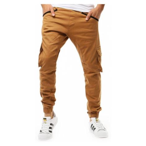 Pánske trendy kamelové joggery ux1882