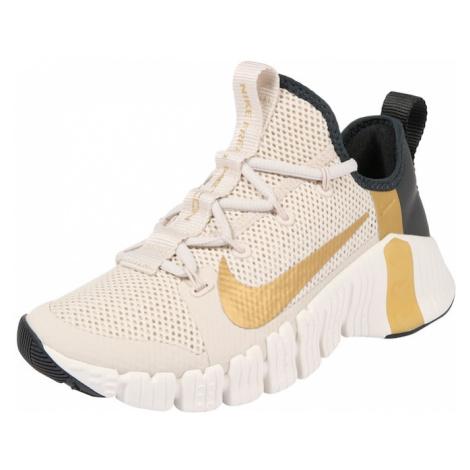 NIKE Športová obuv 'Free Metcon 3'  zlatá / kapučíno / čierna / biela
