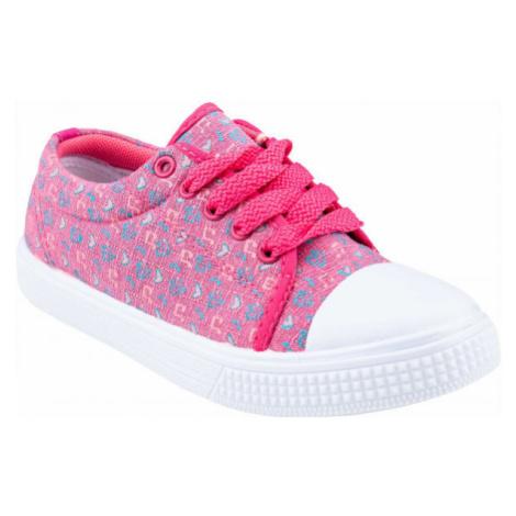 ALPINE PRO ARRAE ružová - Detská voľnočasová obuv