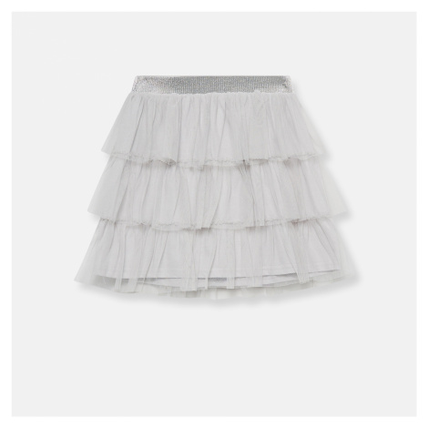 Sinsay - Volánová tylová sukňa - Svetlošedá
