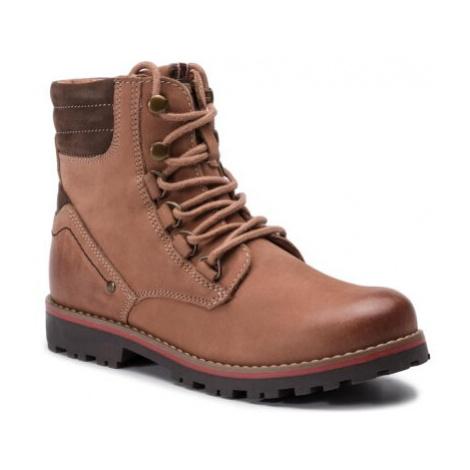 Šnurovacia obuv Lasocki Young CI12-SPLIT-15(IV)CH Prírodná koža(useň) - Nubuk