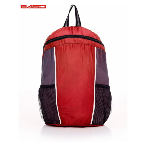 Children´s red school backpack with contrasting modules