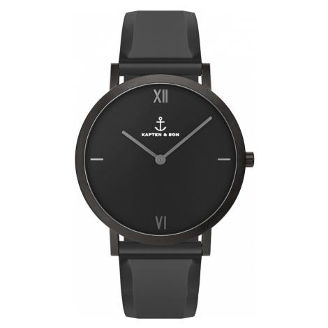 Kapten & Son Analógové hodinky 'Pure Nox'  čierna