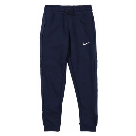 Nike Sportswear Nohavice  biela / námornícka modrá / čierna