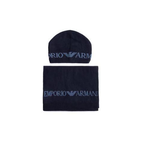 Emporio Armani Set čiapka a šál 628001 0A850 00035 Tmavomodrá