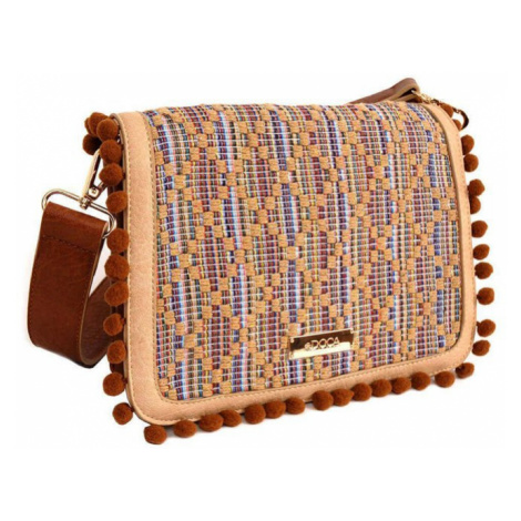 Hnedá kabelka s aplikáciou – Camel Cross Body D . . A