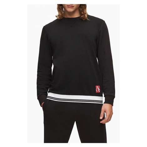 Calvin Klein čierna pánska mikina L/S Sweatshirt