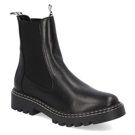 TAMARIS hladká koža chelsea boots