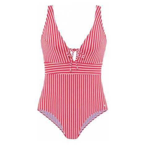 s.Oliver Jednodielne plavky  červená / biela