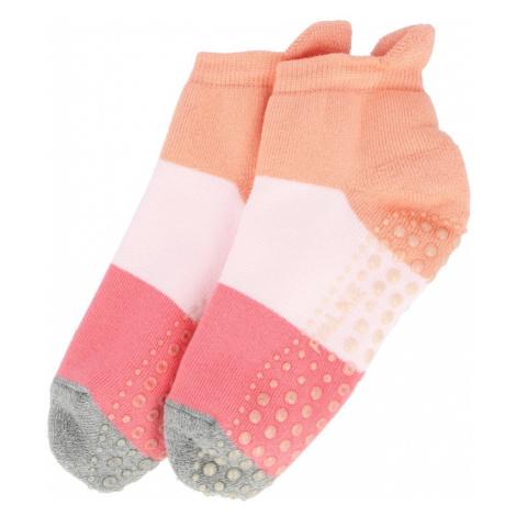 FALKE Ponožky  marhuľová / ružová / koralová / sivá melírovaná