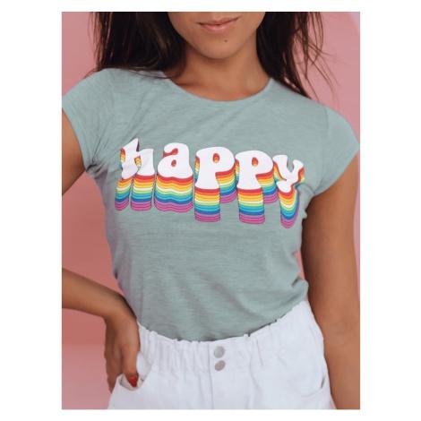 Women's T-shirt HAPPY mint Dstreet RY1851