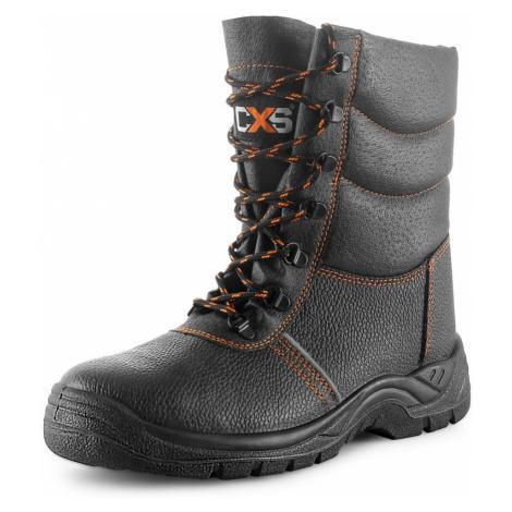 čierne pánske zimné topánky
