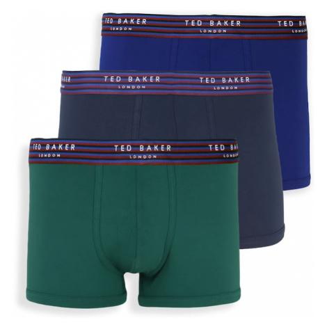 Ted Baker Boxerky  modrá / tmavomodrá / zelená