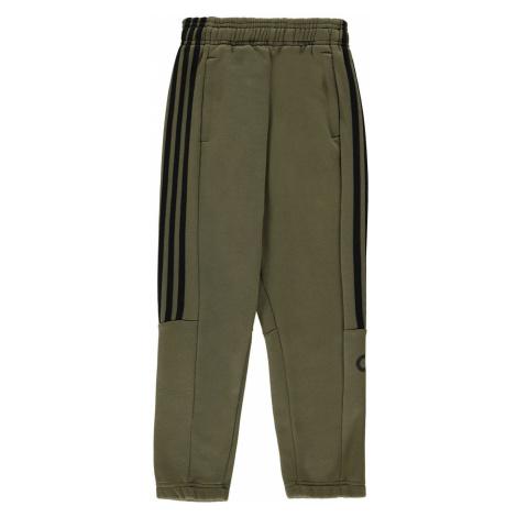 Adidas 3 Stripe Sweat Pants Junior Boys Khaki/Black