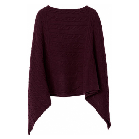 PONČO O3. LAMBSWOOL CABLE PONCHO GANT