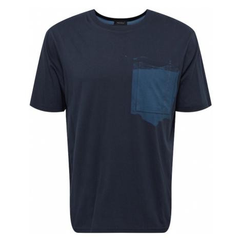 BOSS Casual Tričko  tmavomodrá / dymovo modrá