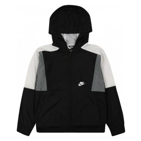Nike Sportswear Prechodná bunda  svetlosivá / čierna / biela