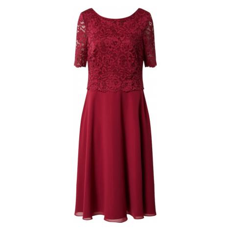 Vera Mont Kokteilové šaty  rubínová