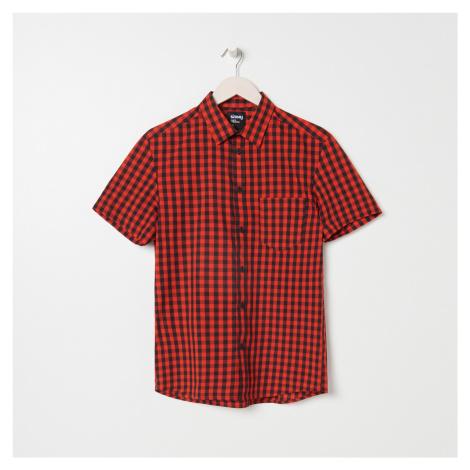 Sinsay - Košeľa s krátkymi rukávmi regular fit - Červená