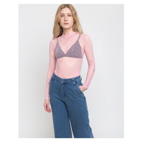 Lazy Oaf Sheer Turtleneck Pink