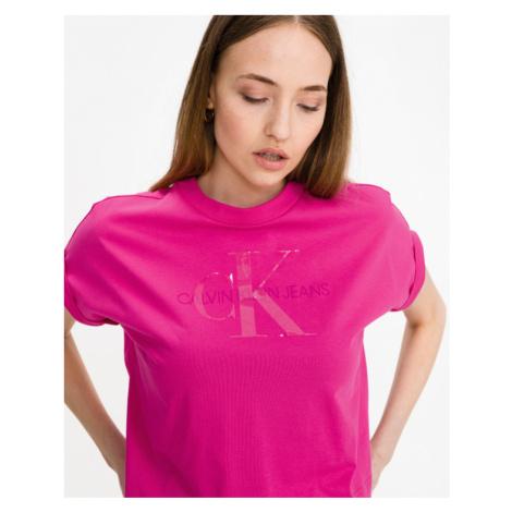 Calvin Klein Tonal Monogram Crop top Ružová