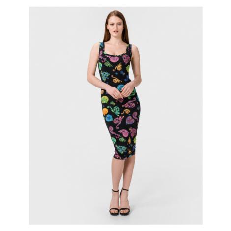 Versace Jeans Couture Šaty Čierna Viacfarebná