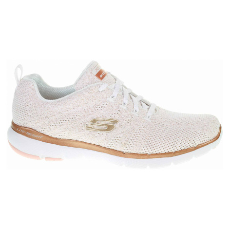 Skechers Flex Appeal 3.0 - Metal Works white-rose-gold 13078 WTRG