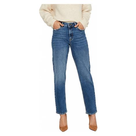 Vero Moda Dámske relaxed straight fit džínsy VMSARA Medium Blue Denim