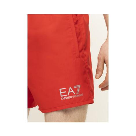 EA7 Emporio Armani Plavecké šortky 902000 CC721 00074 Červená Regular Fit