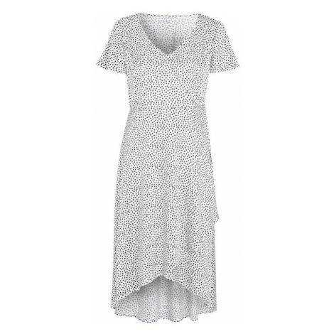 Bodkované saténové šaty