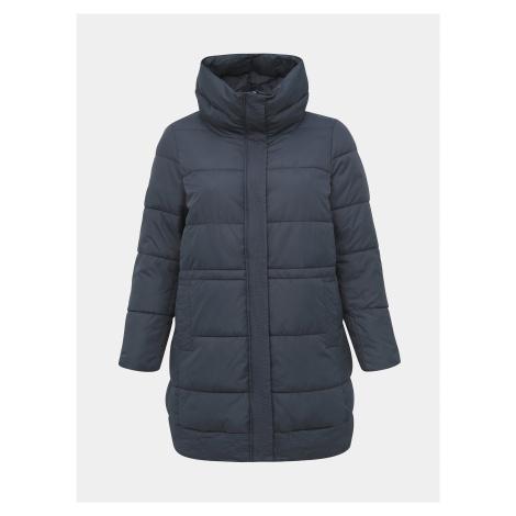 Tmavomodrý zimný prešívaný kabát Zizzi Capetra