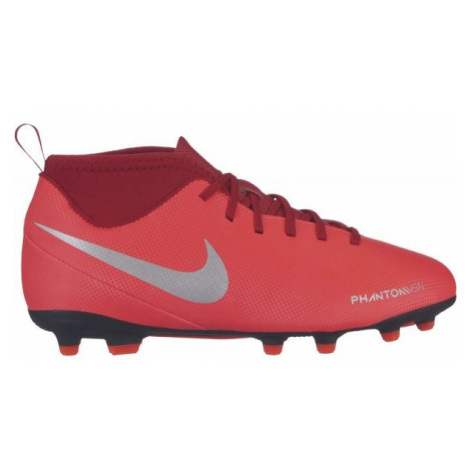 Nike JR PHANTOM VISION CLUB DYNAMIC FIT FG červená - Detské lisovky