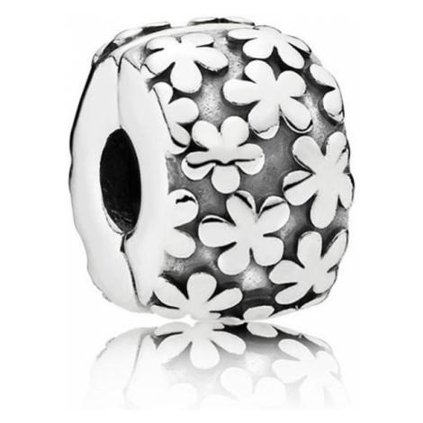 Pandora Strieborný klip s kvetmi