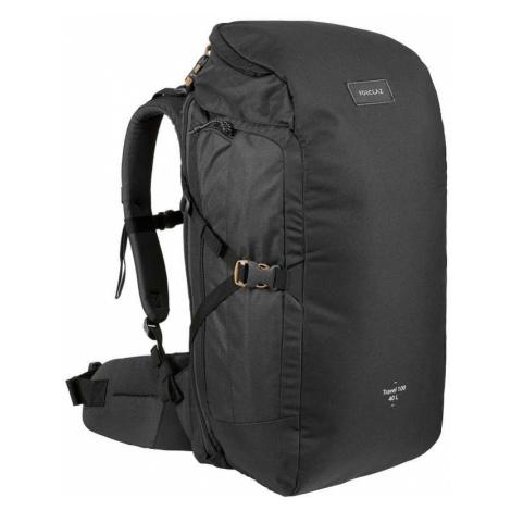 FORCLAZ Trekingový batoh Travel 100 40 litrov čierny ČIERNA