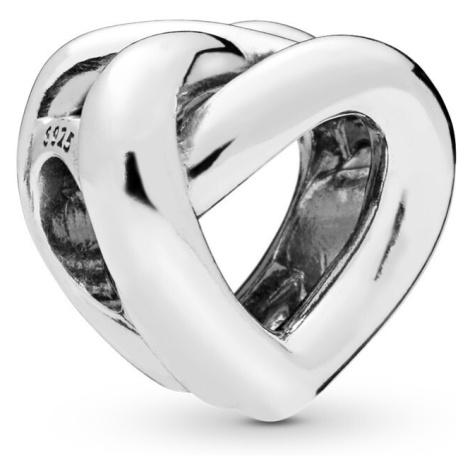 Pandora Strieborný korálik Prepletené srdce