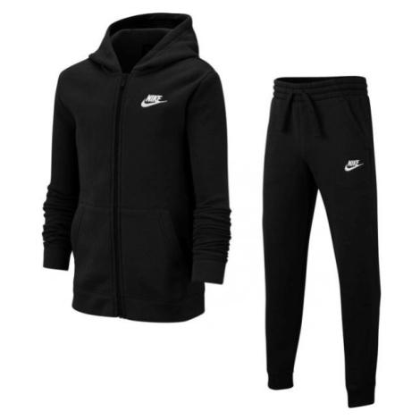 Nike NSW TRK SUIT CORE BF B čierna - Chlapčenská tepláková súprava