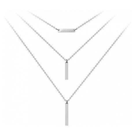 Troli Trojitý oceľový náhrdelník s príveskami