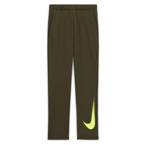 Nike DRY FLC PANT GFX2 B zelená - Chlapčenské nohavice