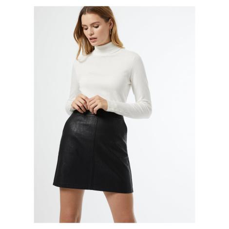 Čierne koženková sukňa Dorothy Perkins