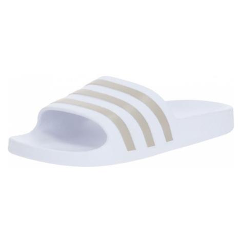 ADIDAS PERFORMANCE Plážové / kúpacie topánky 'ADILETTE AQUA'  strieborná / biela