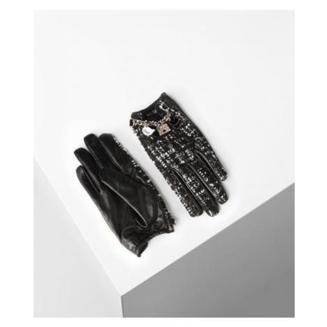 Rukavice Karl Lagerfeld K/Soho Charm Tweed Glove