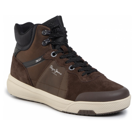 Sneakersy PEPE JEANS - Slate Pro Boot PMS30573 Dark Brown 898
